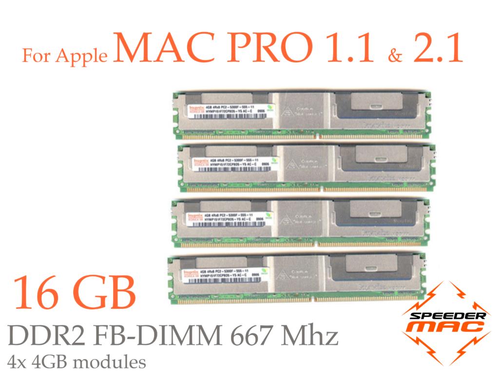 16 GB (4x 4GB) DDR2 667MHz – FBDIMM – Mac Pro 2006-07 1.1 / 2.1