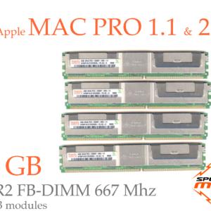 16 GB (4x 4GB) DDR2 667MHz