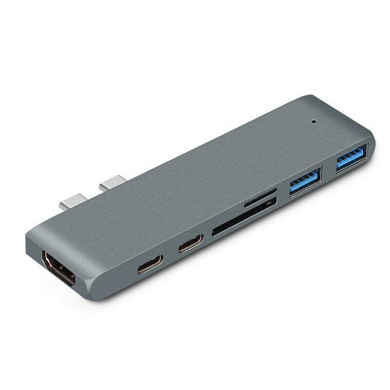 USB-C 3.1 Macbook Pro hub – Space Grey – 6 vejs