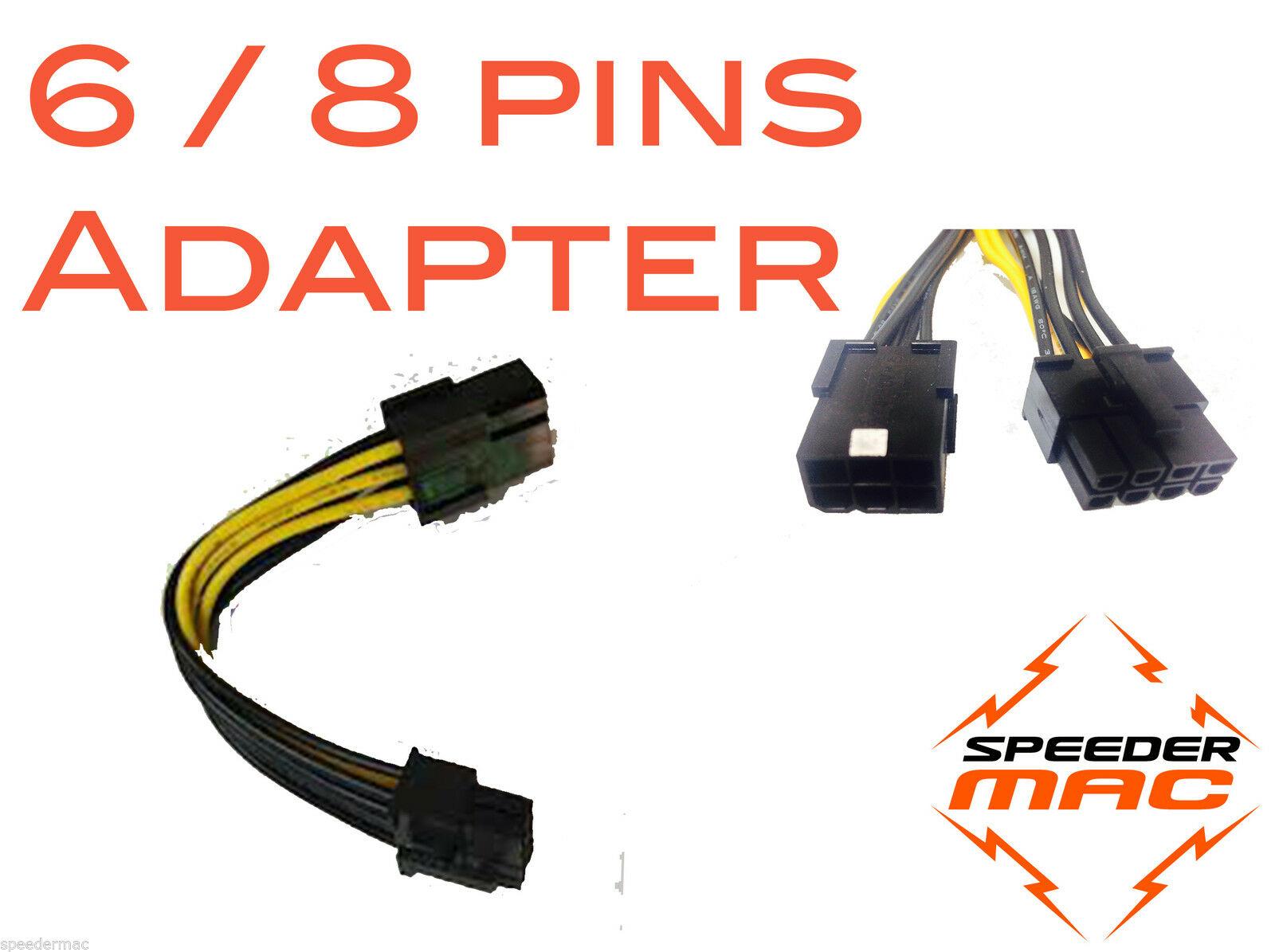 mac pro PCIe 6 pin til PCIe 8 pin