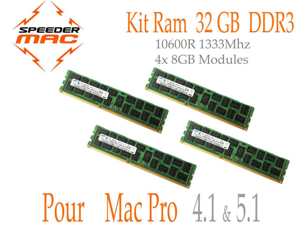 32 GB (4x 8GB) DDR3 ECC 1333MHz Mac Pro 2009 2010 2012 ATP