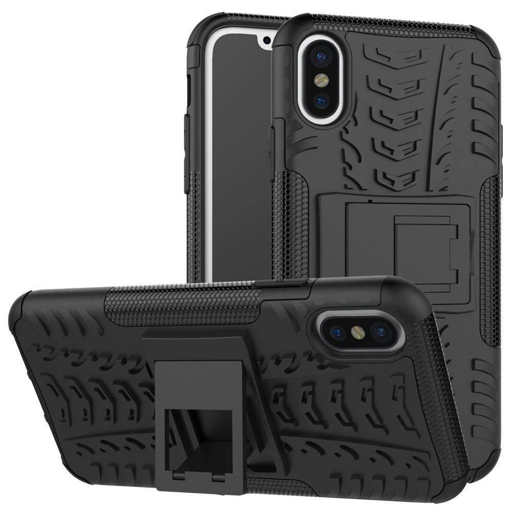 Hard Silicone Case til iPhone X, XS Sort