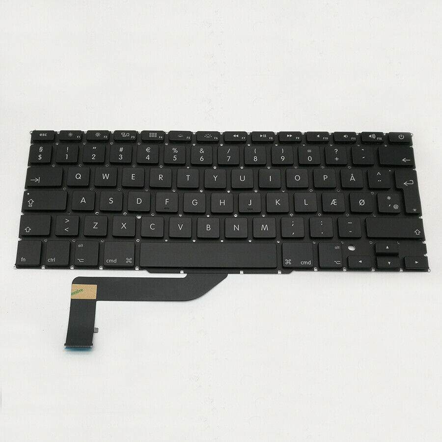 Macbook Pro A1398 tastatur med Dansk layout